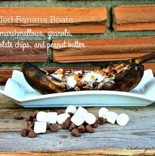Grilled Banana Boats Recipe Day 1 #12DaysOf