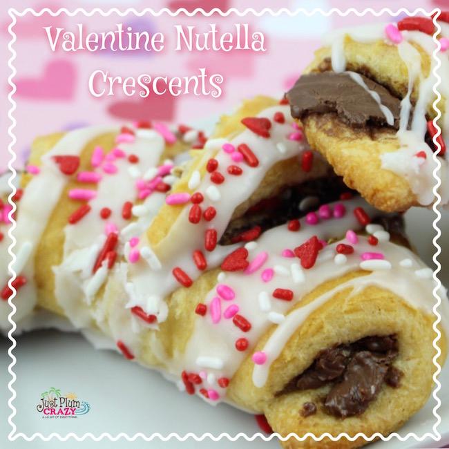 Valentine Nutella Crescents Recipe