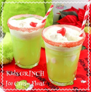Kids Grinch Ice Cream Float Recipe