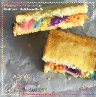 Air Fryer Grilled Cheese Rainbow Sandwich Recipe #NationalFindARainbowDay #NationalGrilledCheeseMonth