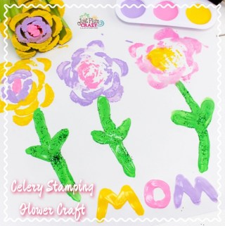 Mother's Day Celery Stamping Flowers Craft