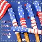 Patriotic Chocolate Covered Pretzels Recipe