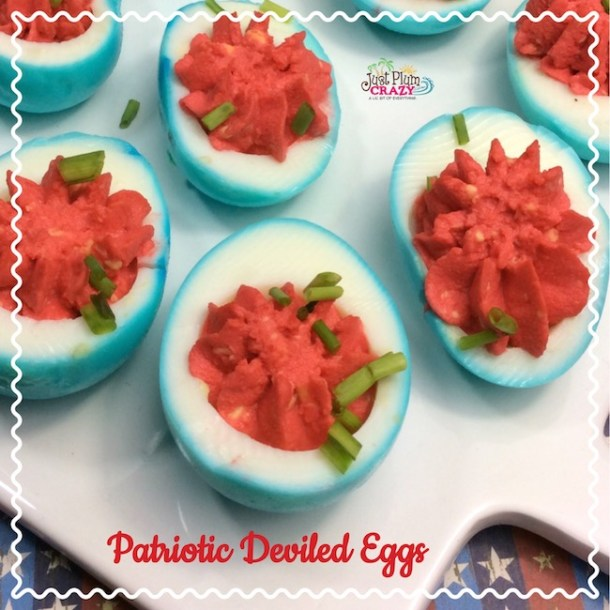 Easy patriotic deviled eggs recipe just plum crazy who doesnt love deviled eggs this year we are making them for our forumfinder Choice Image