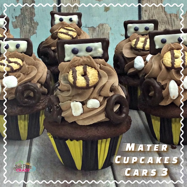 The Mater Cupcake recipe is fun and would look great along with the Lightning McQueen Cupcake recipe or with the Mater Oil Slick Cocktail recipe.