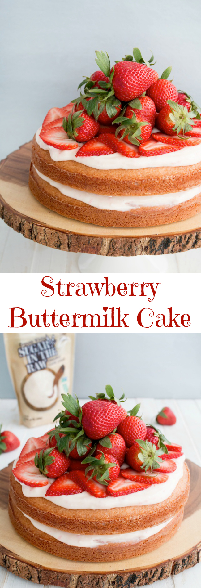 There are so many strawberry recipes but one of my favorites is the Strawberry Buttermilk Cake recipe featuring Sugar In The Raw Organic White®.