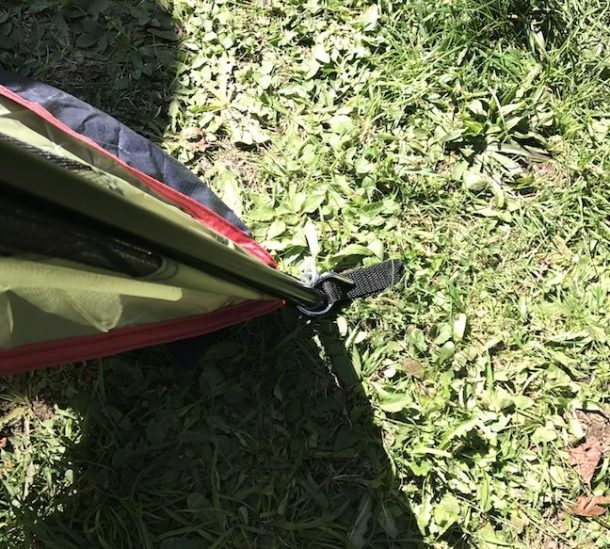 The RORAIMA Bug Proof Screen Tent weighs in at 20 lbs when in the carry bag and has 117 square feet of floor space measuring 13 feet x 9 feet x 6.9 feet.