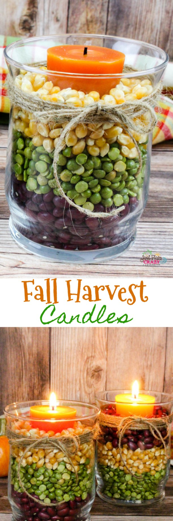 Today we share one of our easiest and beautiful crafts for this season, Fall Harvest Candles craft, because with the holidays upon us, who needs more work.