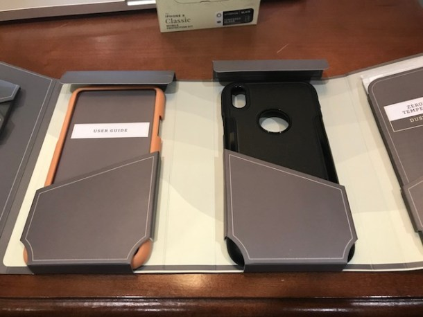 The first iPhone X Case with a screen protector alignment tool, alcohol prep pad, microfiber cloth, dust removal tool, and squeegee in 8 colors.
