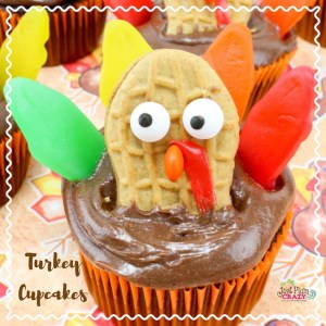 I am thankful for Thanksgiving Turkey Cupcakes recipe. What's Thanksgiving without dessert?Chocolate, Peanut Butter, Swedish Fish and more!
