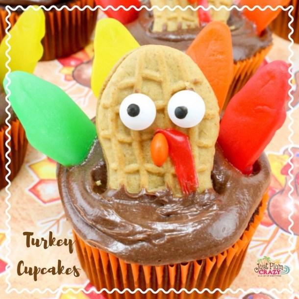 Thanksgiving Turkey Cupcakes Recipe Just Plum Crazy
