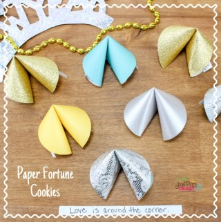 New Year's Eve Paper Fortune Cookies Craft