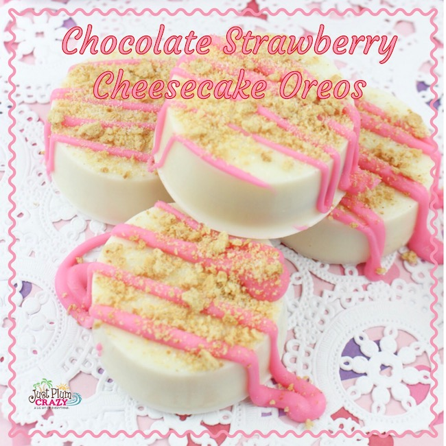 Let's switch it up a bit with someChocolate Strawberry Cheesecake Oreos Recipe that is not only perfect for Valentine's Day, but really any day.
