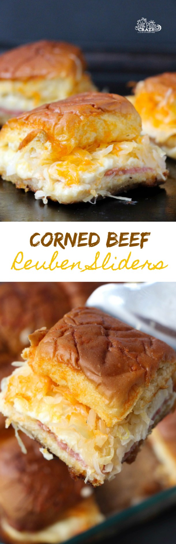 Since I don't have a pastrami sandwich recipe, we are sharing a Corned Beef Reuben Sliders recipe which you can also use for other holidays besides St. Patrick's Day like the big game coming up in a couple of weeks or even a summer picnic | PlumCrazyAboutCoupons.com