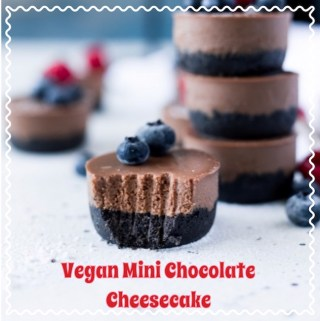 Today we're sharing these delicious Vegan Mini Chocolate Cheesecake recipe. You won't believe how amazing they taste and if you don't tell anyone they won't even guess that these are vegan!