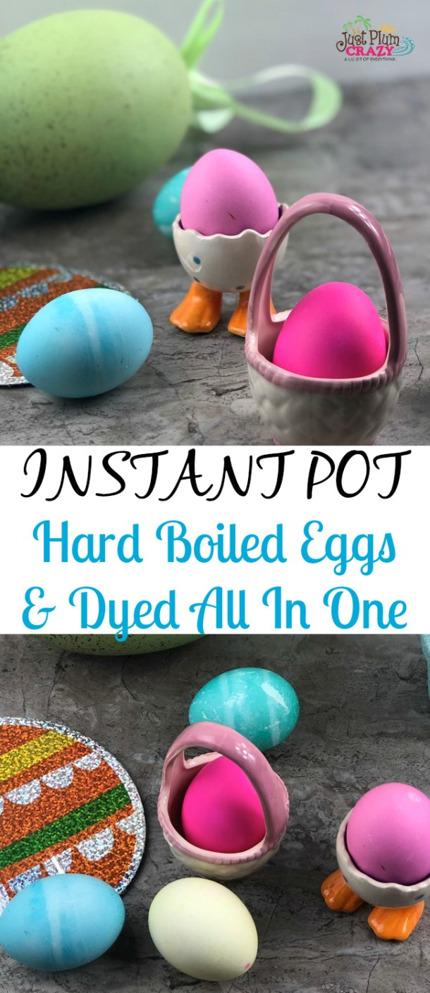The Instant Pot is all the rage these days, so why not dye your eggs and hard boil them at the same time. I have to admit that I am a procrastinator and wait until the last minute to do everything. (Including making and dying my Easter Eggs.) Instant Pot Hard Boiled Eggs and Dyed All in One!