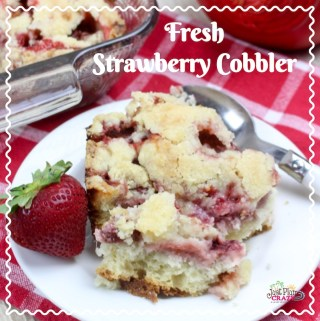 Strawberry season is here in the Northeast and we are sharing another one of our favorite strawberry recipes. The Fresh Strawberry Cobbler Recipe is perfect for any occasion.