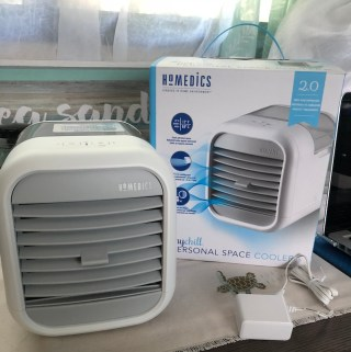 HoMedics MyChill Personal Space Cooler Keep Cool When Everyone Else Wants it Warm