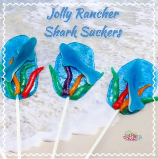 Shark Week is here and we have our Jolly Rancher Shark Suckers recipe to share with you but you don't have to worry about these sharks.