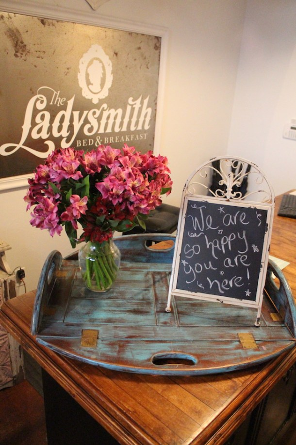 The look throughout Miranda Lambert Bed and Breakfast, The Ladysmith is shabby chic with old farmhouse and cute girly style.