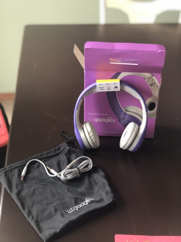 LilGadgets Volume Limited Kids Headphones is the decibels are limited and there is a SharePort so that two children can listen at the same time.
