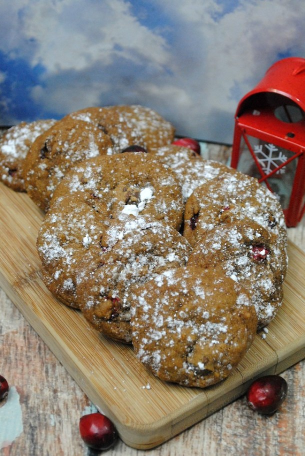 Nothing makes the house smell wonderful like a gingerbread cookie. Add some cranberries to make a festive Gingerbread Chocolate Chip Cookie Recipe.