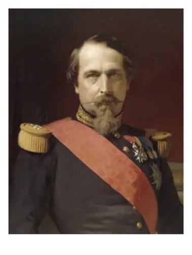 Portrait de Napoléon III en uniforme de général de division, dans son grand cabinet aux Tuileries, par Hippolyte Flandrin en 1862