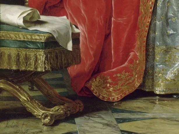 Détail du portrait d'Adélaïde par Labille-Guiard