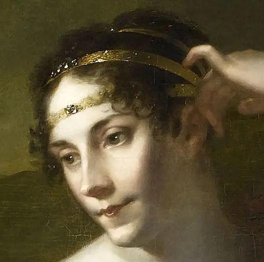 Détail portrait Impératrice Joséphine par Pierre-Paul Prud'hon