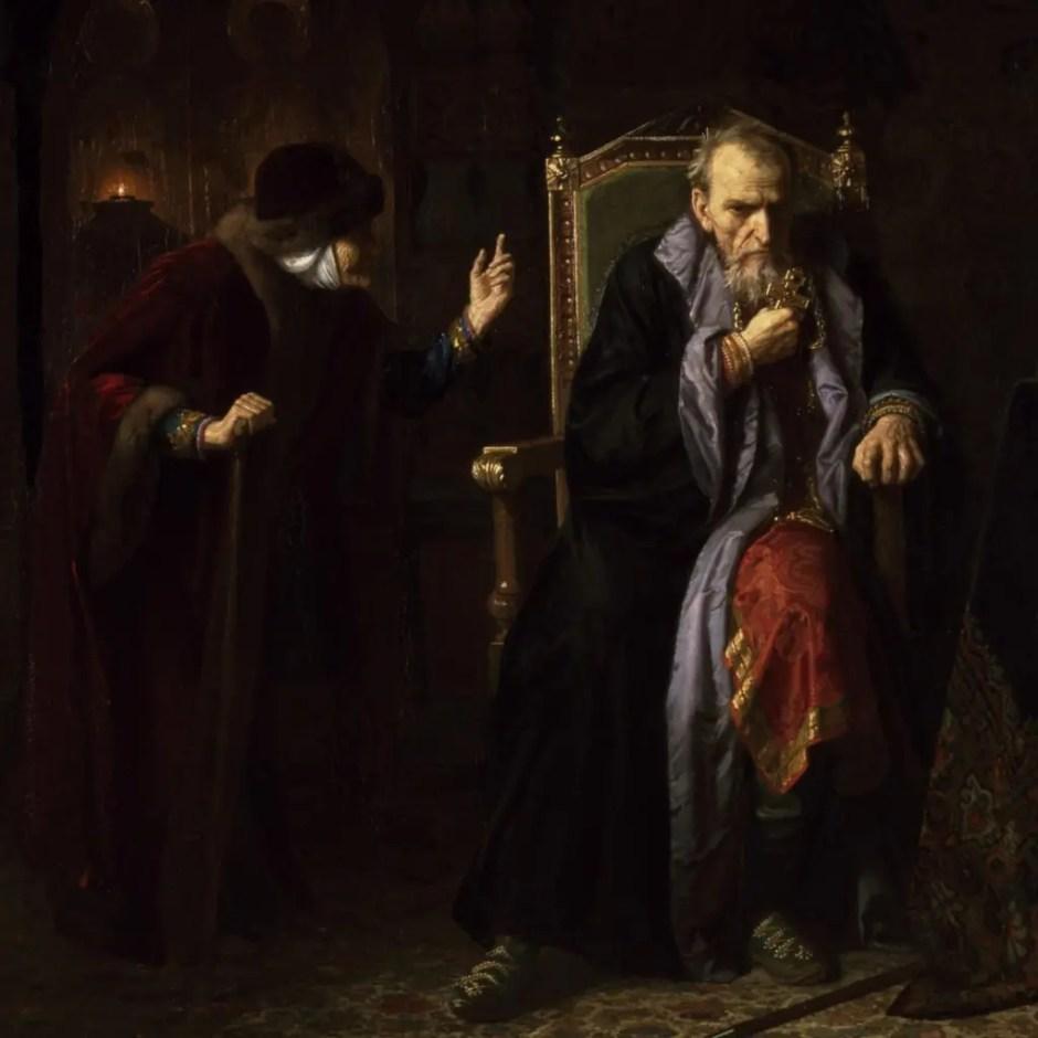 Le Tsar Ivan le Terrible et sa nourrice, tableau de Karl Gottlieb Wenig (1886)