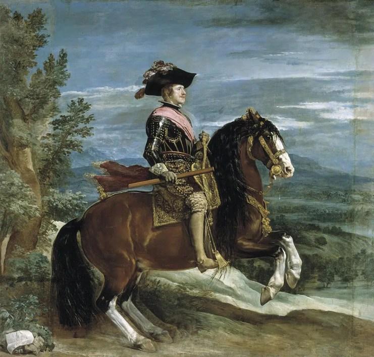 Portrait équestre du Roi d'Espagne Philippe IV, par Diego Velasquez