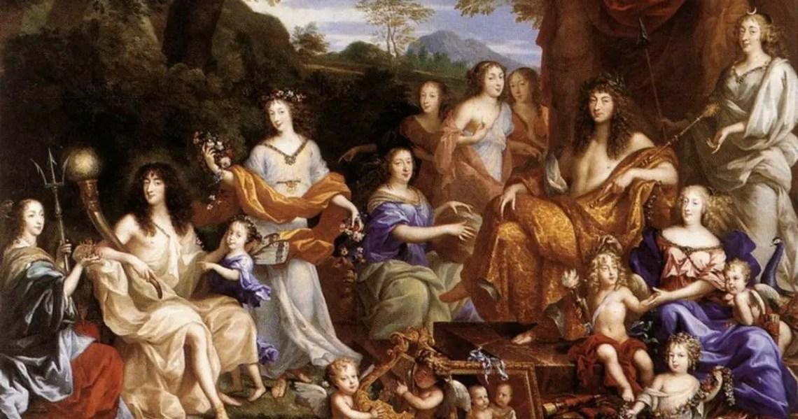 Famille de Louis XIV divinisée, Jean Nocret | Plume d'histoire