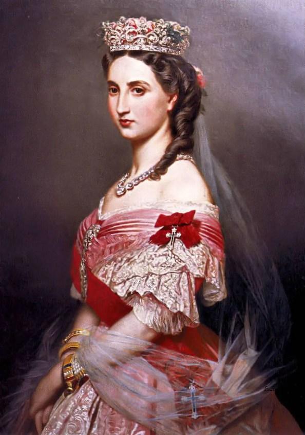 Charlotte de Belgique peinte par Franz-Xaver Winterhalter en 1864