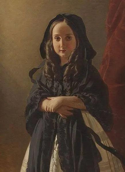 Charlotte enfant peinte par Winterhalter
