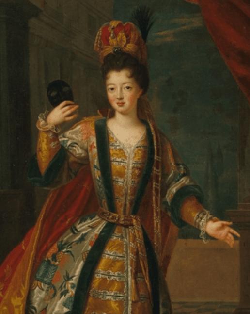 Portrait présumé de Louise-Françoise de Bourbon, Mlle de Nantes, en costume de bal par Pierre Goubert - Musée Carnavalet