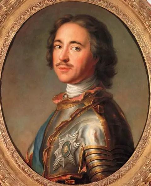 Huile sur toile de Jean-Marc Nattier représentant Pierre Ier - 1715, Musée du château de Versailles