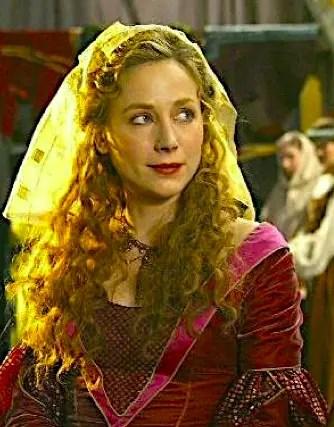 """Julie Depardieu dans le rôle de Jeanne de Bourgogne, série """"les Rois Maudits"""" version 2005"""
