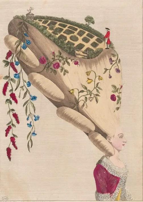 """""""The Flower Garden"""", gravure publiée par M. Darly en 1777"""