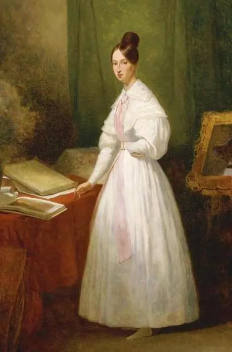 Marie d'Orléans devant ses carnets de dessin, par Ary Scheffer
