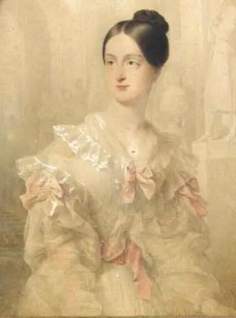 Marie d'Orléans, duchesse de Wurtemberg, par Jean-Baptiste Isabey en 1837 - Chantilly , musée Condé