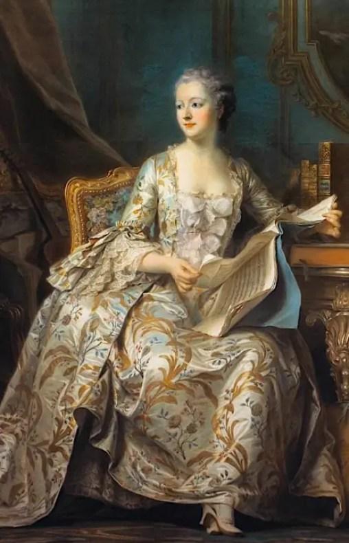 Mme de Pompadour vers 1755 par Maurice Quentin de La Tour – Musée du Louvre