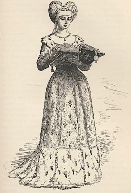 Gravure d'Anne de Beaujeu issue de l'ouvrage Histoire de France par François Guizot – France, 1875