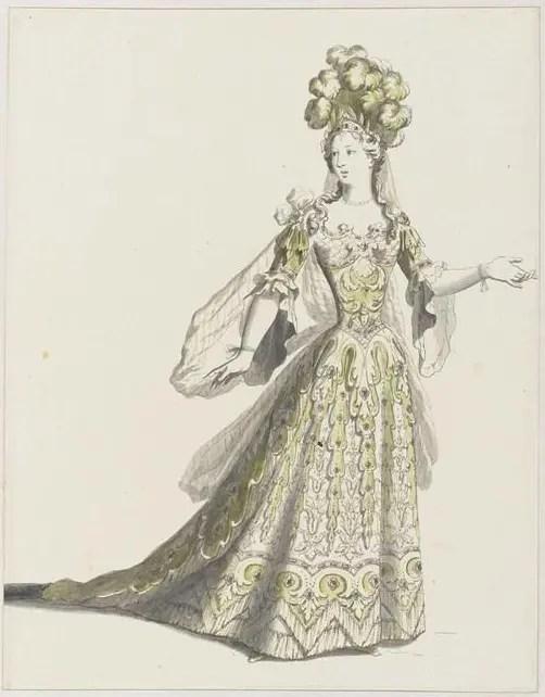 Costume féminin sous Louis XIV