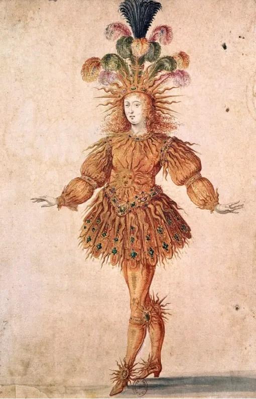 Louis XIV en Apollon dans le ballet de la nuit