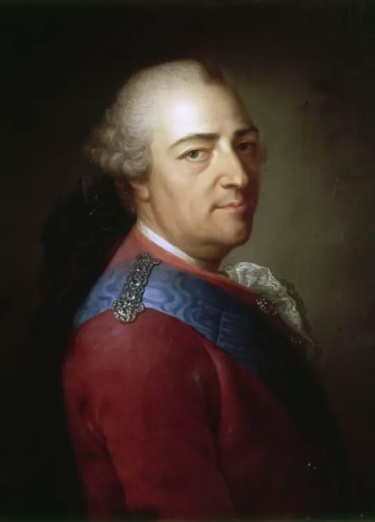 Louis XV en 1774, peint par Montpetit (Collections du château de Versailles)