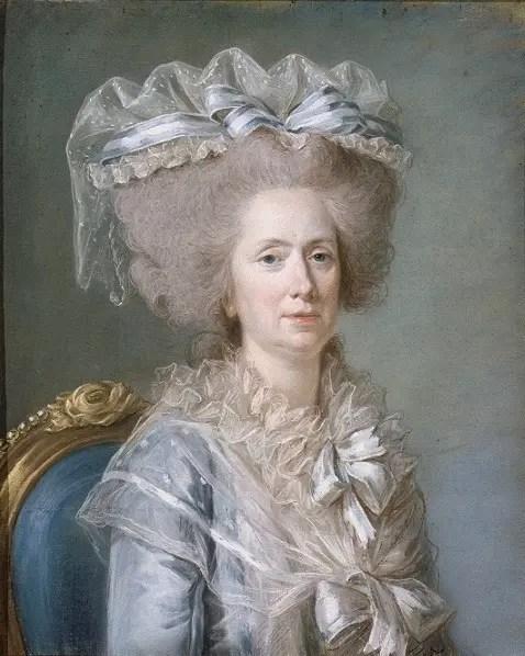 Madame Adélaïde de France peinte par Labille-Guiard vers 1787 (Musée du château de Versailles)