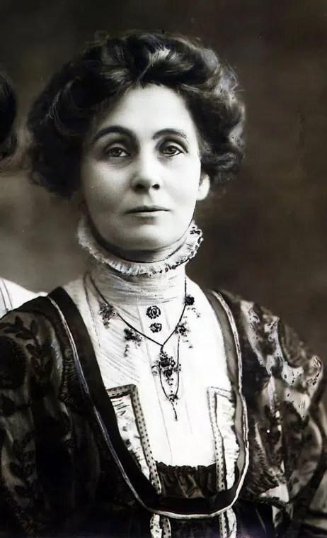 Mrs Emmeline Pankhurst, leader des Suffragettes