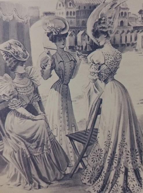 Gravure de mode, Figaro Mode, à la fin du XIXème siècle