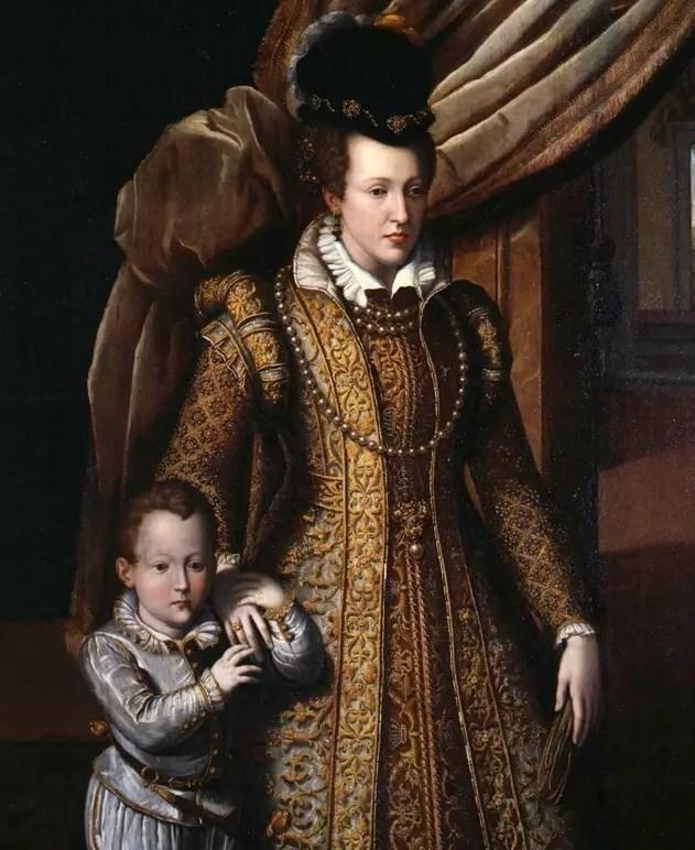 Jeanne d'Autriche avec son fils Philippe - Galerie des Offices de Florence