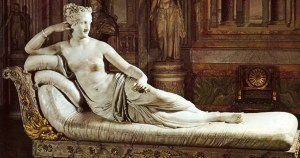 Statue scandaleuse : Pauline Bonaparte pose nue pour Canova