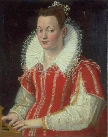 Portrait de Bianca Capello jouant du Clavicorde par Lavinia Fontana, Musée des Beaux-Arts, Valenciennes